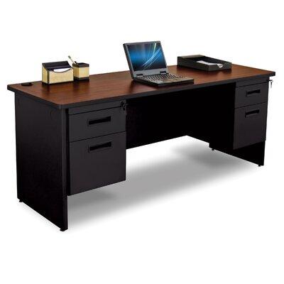 Pronto Executive Desk Top Finish: Mahogany
