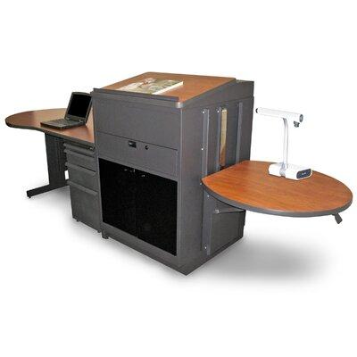 Vizion Teacher's Desk AV Cart with Media Center and Lectern Finish: Cherry