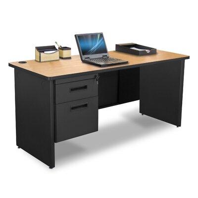 Pronto Executive Desk with Hutch Top Finish: Oak