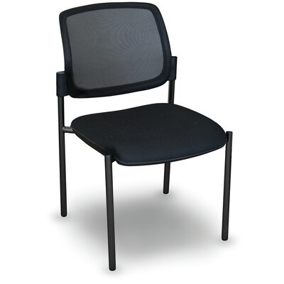 Fermata Mesh Stackable Visitor Chair Finish: Black