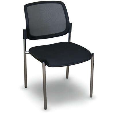 Fermata Mesh Stackable Visitor Chair Finish: Aluminum