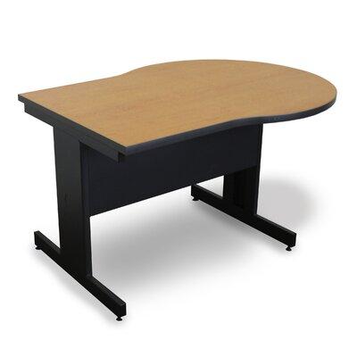 """48"""" W Vizion Keyhole Training Table Tabletop Finish: Oak"""
