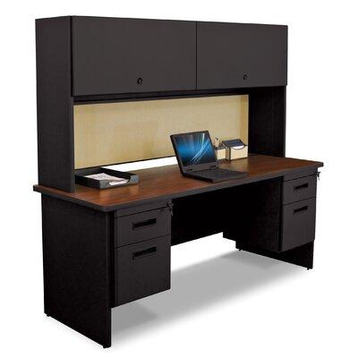 Pronto Executive Desk with Hutch Top Finish: Mahogany