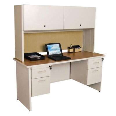 Pronto Executive Desk with Hutch Finish: Oak/Putty