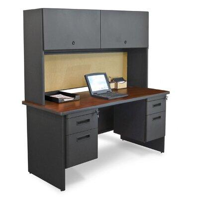 Pronto Executive Desk with Hutch Finish: Mahogany/Dark Neutral