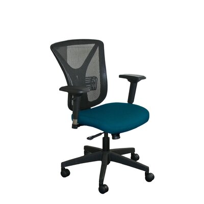 Fermata Mesh Desk Chair Upholstery Color: Iris Fabric and Black Base, Headrest Included: No