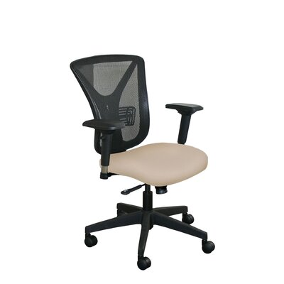 Fermata Mesh Desk Chair Upholstery Color: Flax Fabric and Black Base, Headrest Included: No