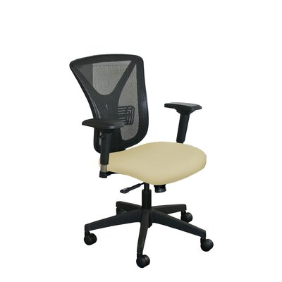 Fermata Mesh Desk Chair Upholstery Color: Forsythia Fabric and Black Base, Headrest Included: No