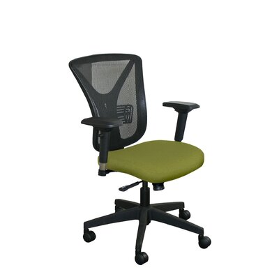 Fermata Mesh Desk Chair Upholstery Color: Fennel Fabric and Black Base, Headrest Included: No
