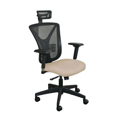 Fermata Mesh Desk Chair Upholstery Color: Flax Fabric and Black Base, Headrest Included: Yes