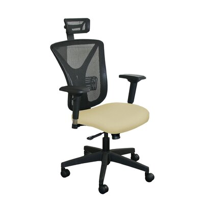 Fermata Mesh Desk Chair Upholstery Color: Forsythia Fabric and Black Base, Headrest Included: Yes