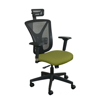Fermata Mesh Desk Chair Upholstery Color: Fennel Fabric and Black Base, Headrest Included: Yes