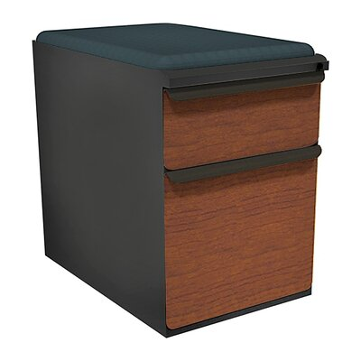 Zapf 2-Drawer Mobile Pedestal File Cabinet Frame Finish: Featherstone, Fabric Finish: Fenne, Drawer Finish: Collectors Cherry Laminate