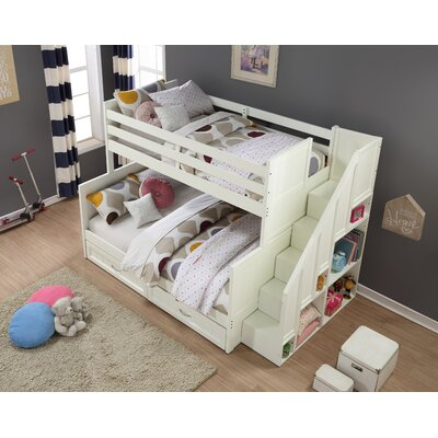 Lawanda Twin Over Full Standard Bed with Drawers