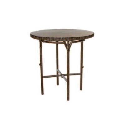 Whitecraft Chatham Run Heartwood Round Bar Table with Faux Top