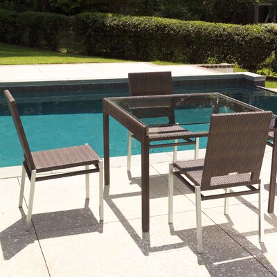 Whitecraft All-Weather Pacific Square Dining Table with Glass Top