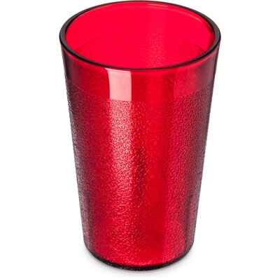 Stackable SAN 10 oz. Plastic Every Day Glass (Set of 12) Color: Ruby