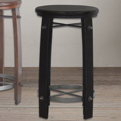 "Mountainside 24"" Bar Stool Finish: Black"