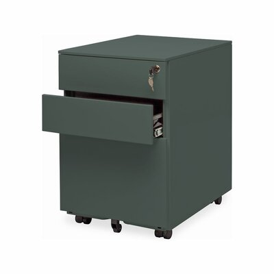 Office 3 Drawer Mobile File Cabinet Color: Simple Grey