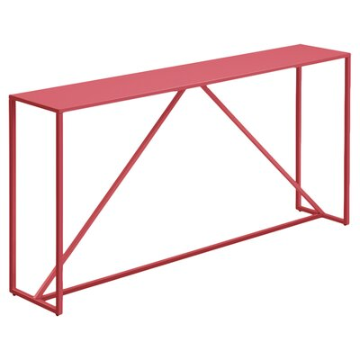 Strut Console Table Color: Watermelon