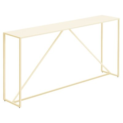 Strut Console Table Color: Ivory
