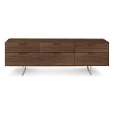 """Series 11 84"""" TV Stand Wood Color: Walnut"""