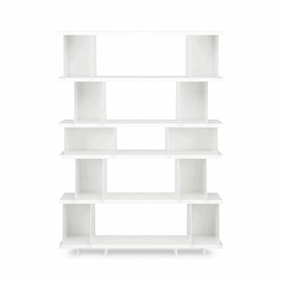 Shilf Version Standard Bookcase Color: White