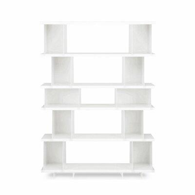 Shilf Version Standard Bookcase Color: White