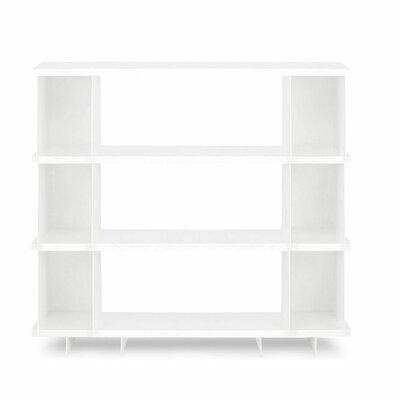 Shilf Standard Bookcase Color: White