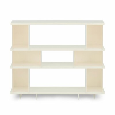 Shilf Standard Bookcase Color: Ivory