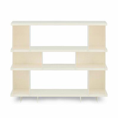 Shilf Standard Bookcase Color: Ivory