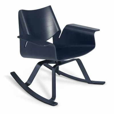 Buttercup Rocking Chair Frame Color: Midnight on Ash / Stainless Steel