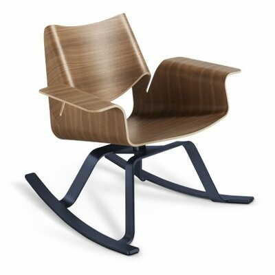 Buttercup Rocking Chair Frame Color: Walnut / Navy