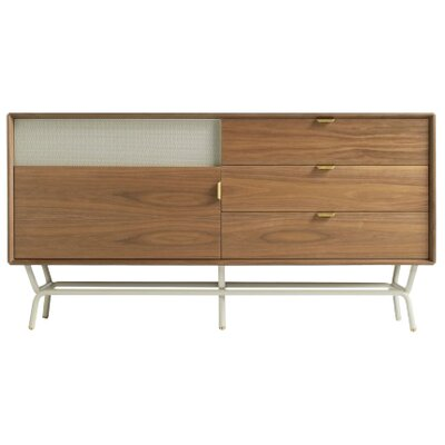 """Dang 56"""" TV Stand Color: Walnut on Grey"""