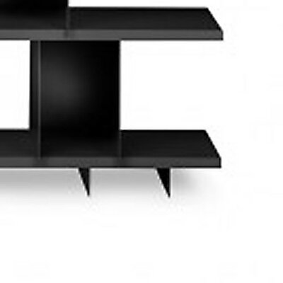Shilf Foot Block Standard Bookcase Color: Black