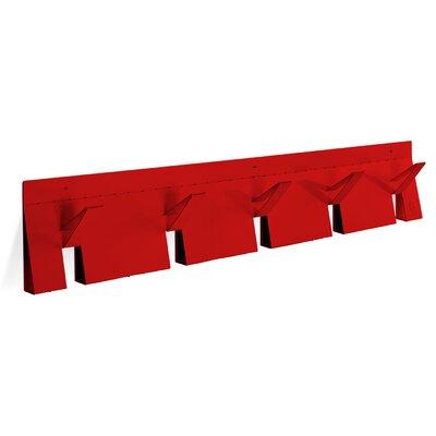 2D3D Coat Rack Color: Fire Engine Red