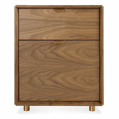 Dang 2 Drawer File Cabinet Color: Walnut