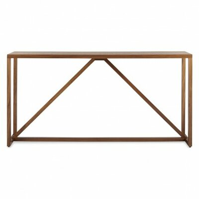 Strut Console Table Color: Walnut
