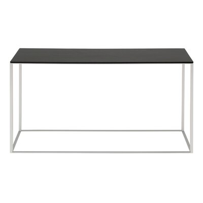 Minimalista Console Table Base Color: Black, Top Color: Marble