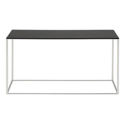 Minimalista Console Table Base Color: Black, Top Color: Marble