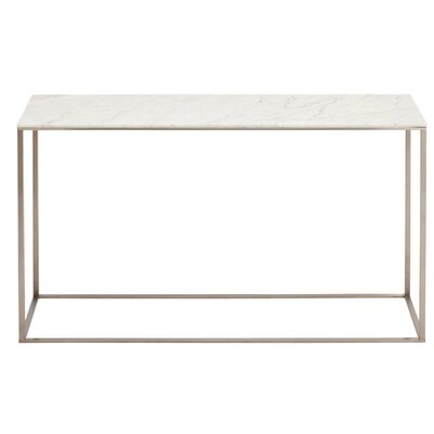 Minimalista Console Table Top Color: Marble, Base Color: White