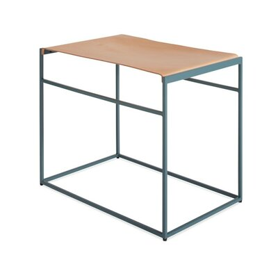 Common Leather Sling Stool Color/Seat Color: Marine Blue/Day