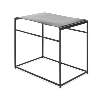 Common Leather Sling Stool Color/Seat Color: Black/Night