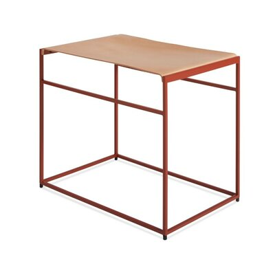Common Leather Sling Stool Color/Seat Color: Red/Day
