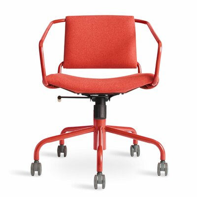 Daily Task Chair Cushion Color: Red