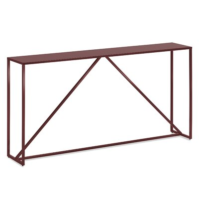 Strut Console Table Color: Oxblood