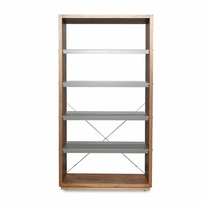 D Etagere Bookcase Color: Walnut / Gray