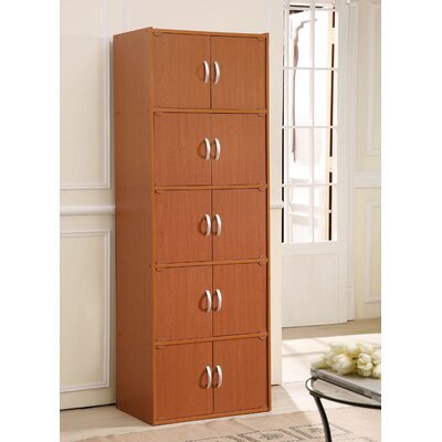 10 Door Storage Accent Cabinet Color: Cherry