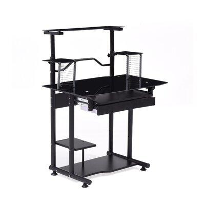 Computer Desk with Hutch Finish: Black
