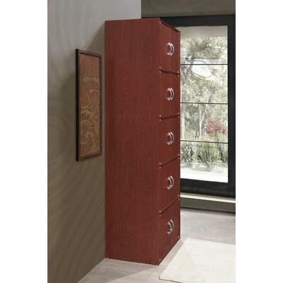 10 Door Storage Accent Cabinet Color: Mahogany